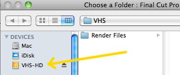 Final cut Pro choose scratch disks folder