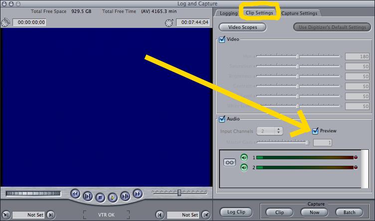 Final cut Pro clip settings preview