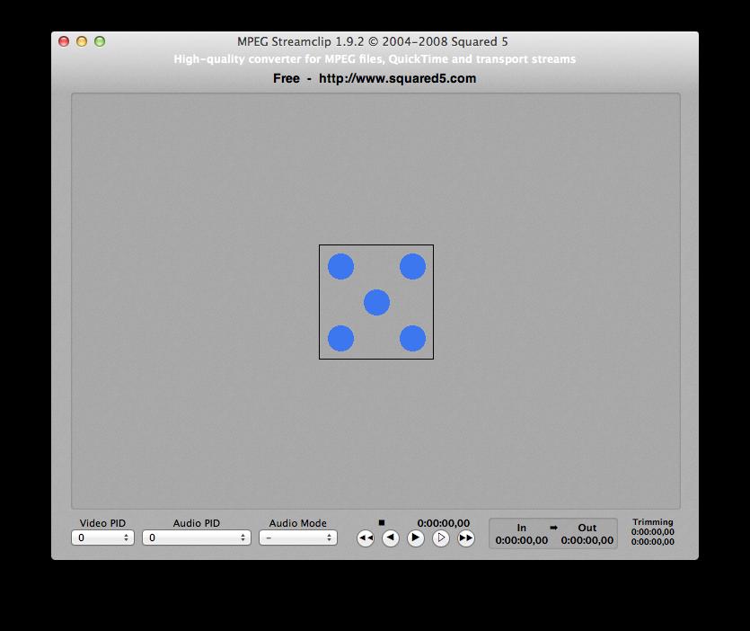 MPEG Streamclip blue dice