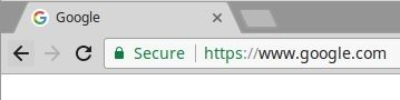 A green lock indicates a secure HTTPS connection in the address bar