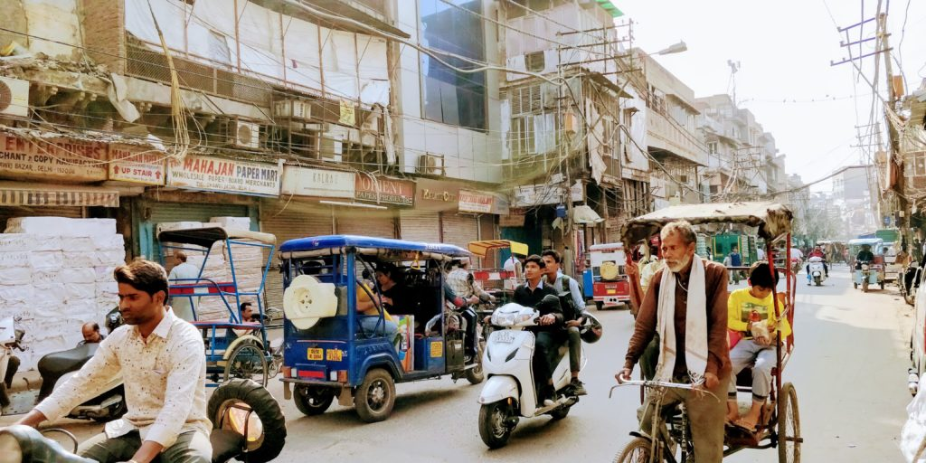 You will see plenty of rickshaws and scooters riding through the streets of New Delhi during your backpacking India travels