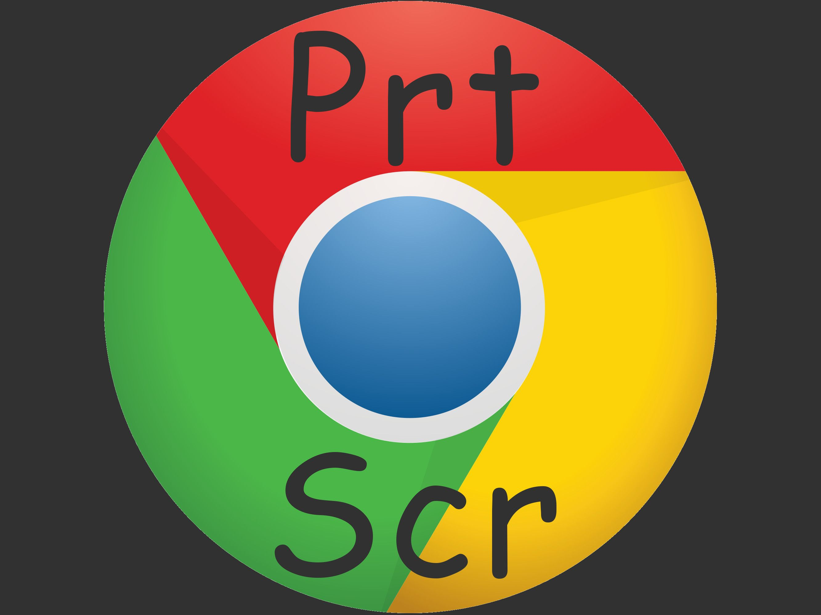 Print screen key Prt Scr on Google Chrome icon