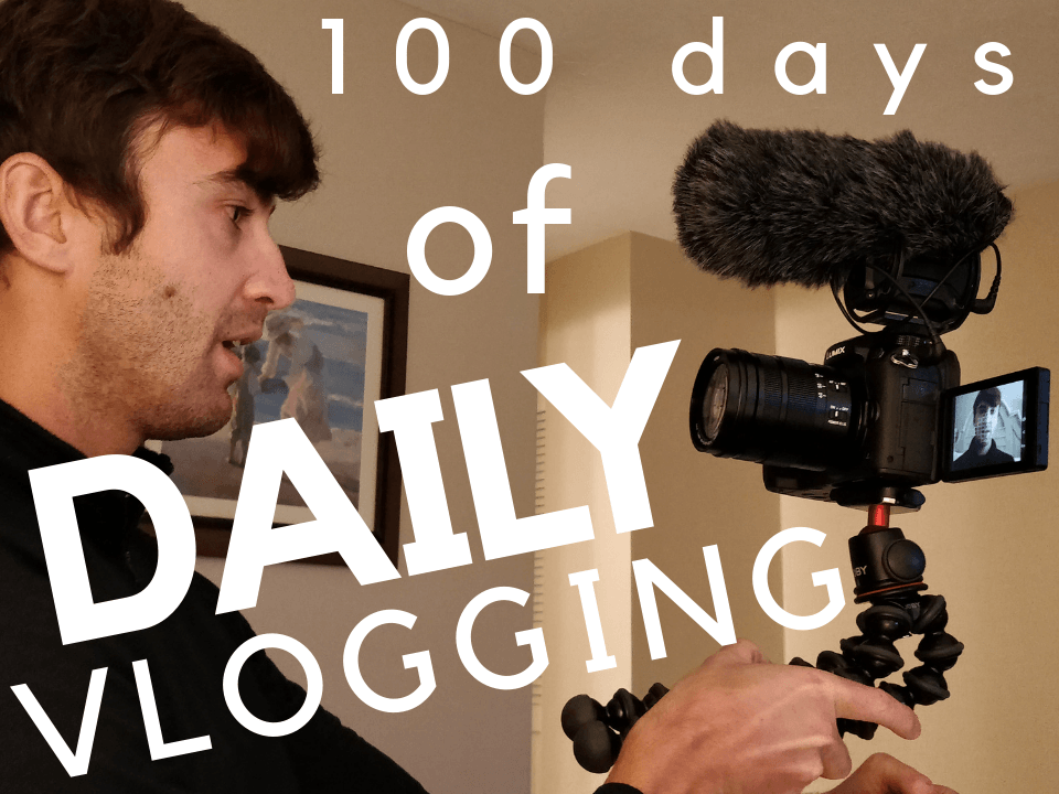 Daily vlogger with vlogging rig