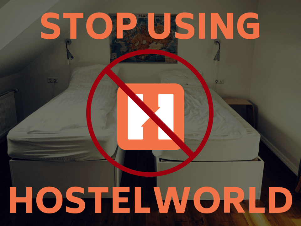 Hostelworld fees when booking a hostel