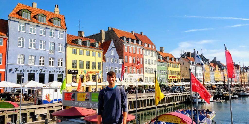 Colorful buildings of Nyhavn in Copenhagen
