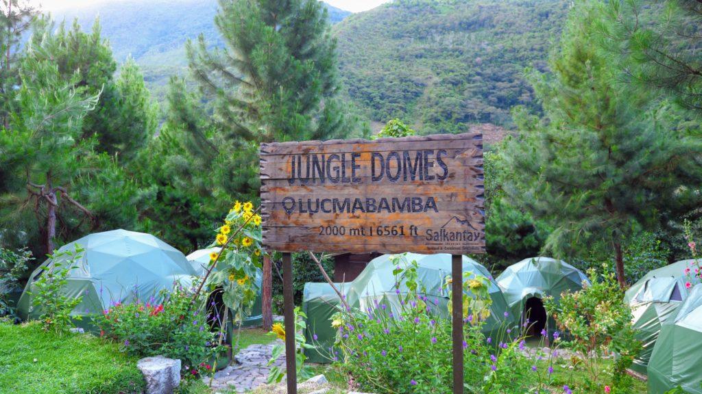 Jungle domes in Peru during the Salkantay trek