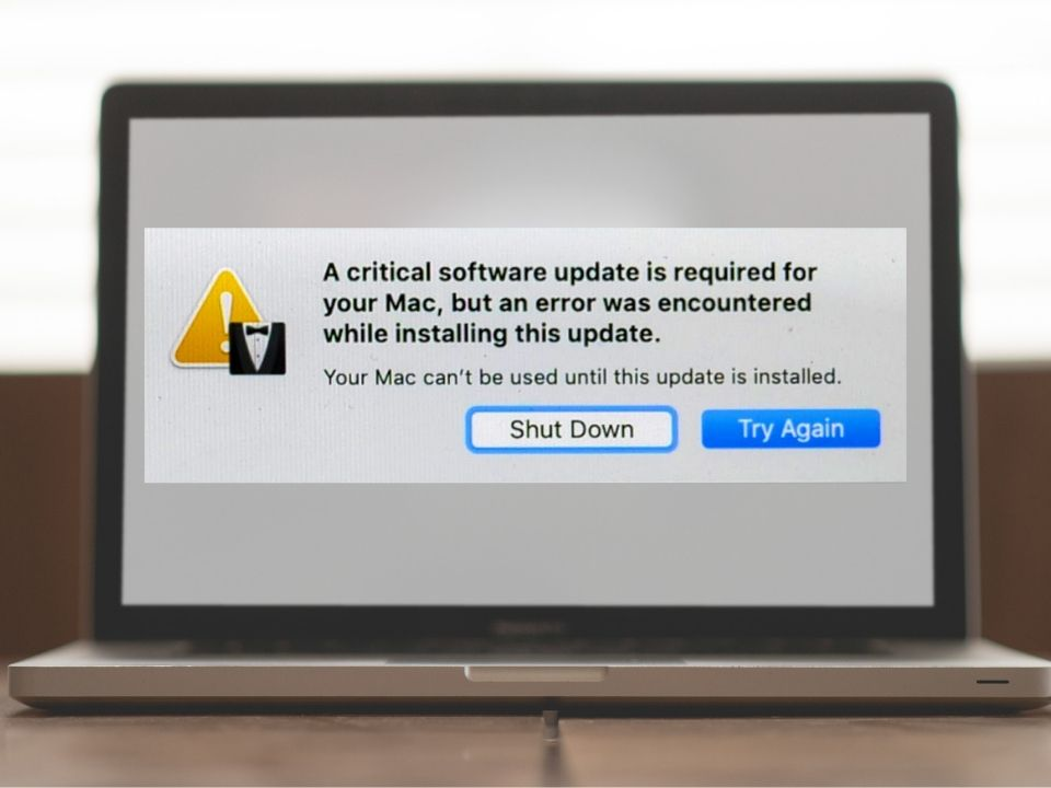 A critical software update is required for your Mac