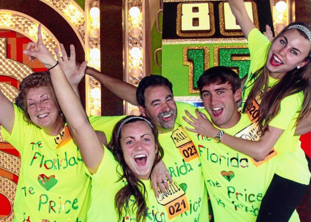 Florida family on The Price is Right set