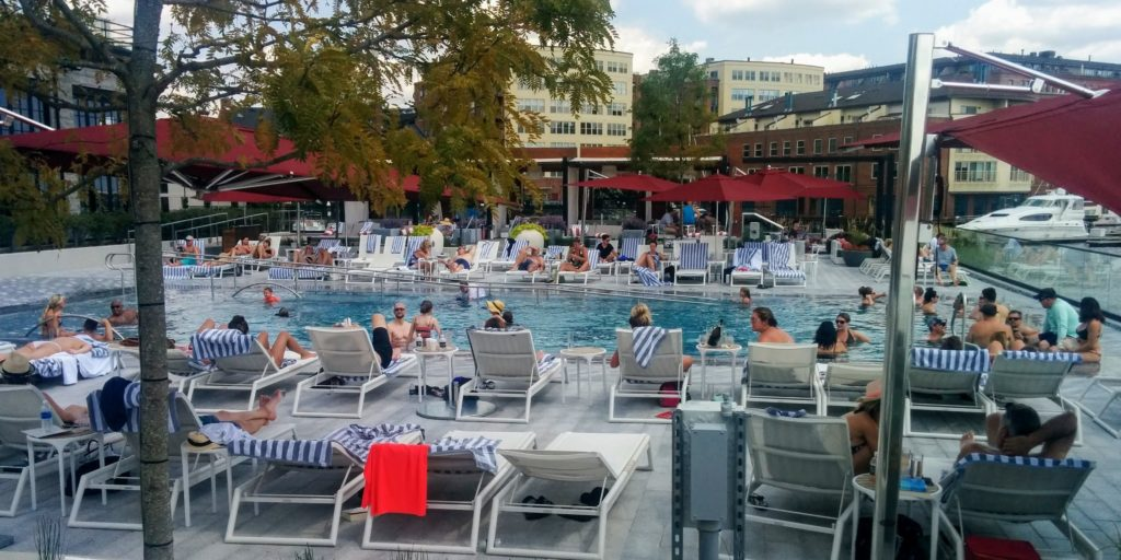 Sagamore Pendry pool in Baltimore