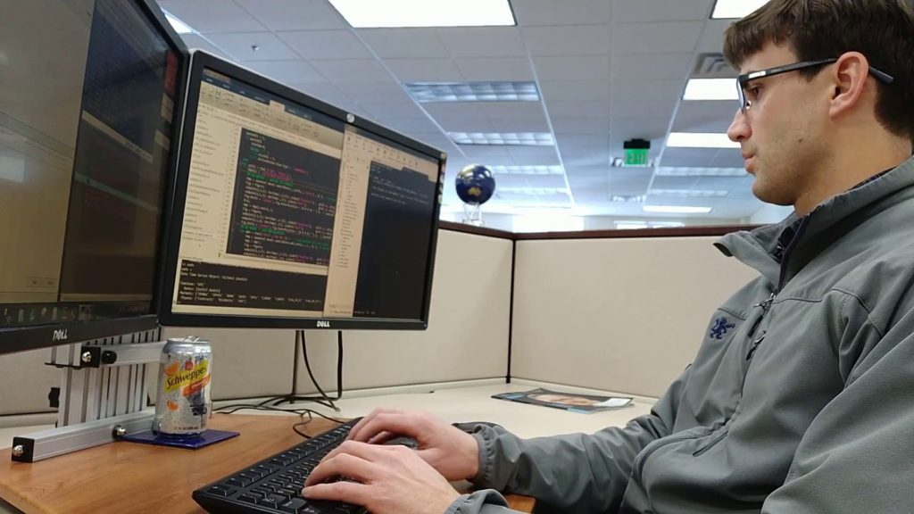 Tony Florida at his hedge fund job