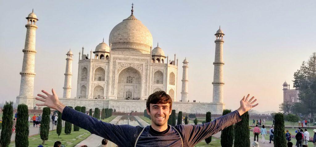 Tony Florida travel to India Taj Mahal