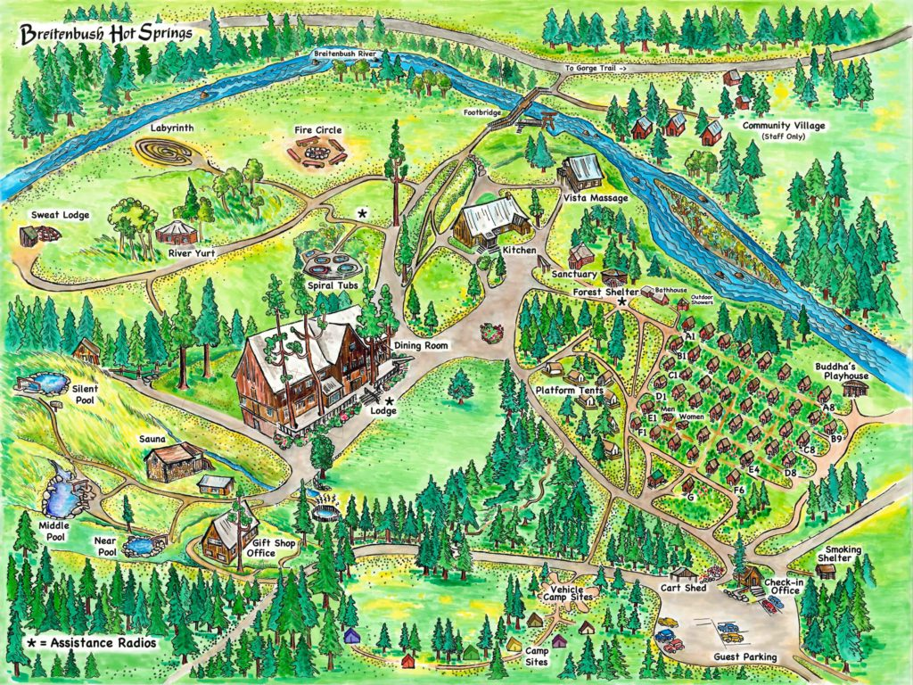 Breitenbush hot springs map