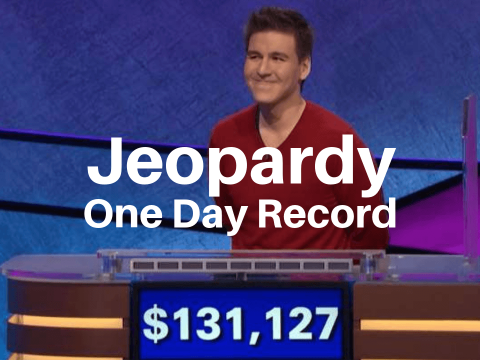 James Holzhauer holds the Jeopardy one day record