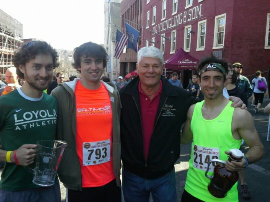 Tony Florida and Dick Yuengling at the Pottsville brewery 5k