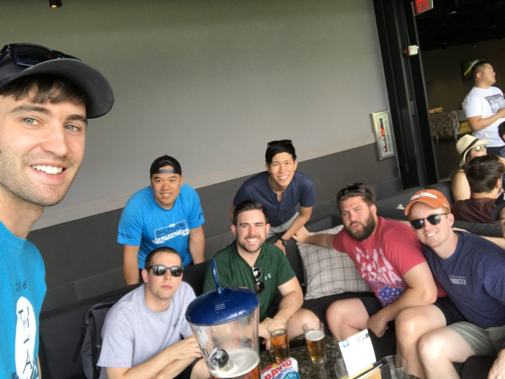 Tony and friends at Topgolf Las Vegas