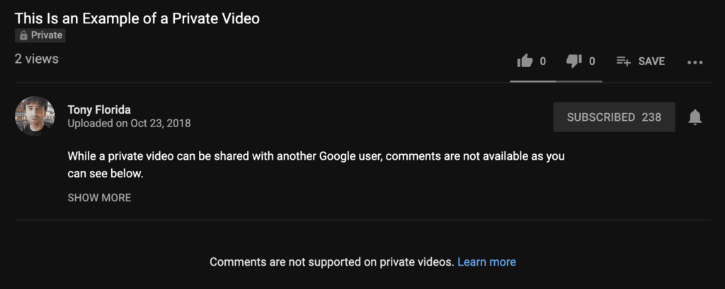 Comments are not supported on private videos
