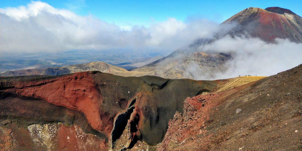 Tongariro alpine crossing picture view