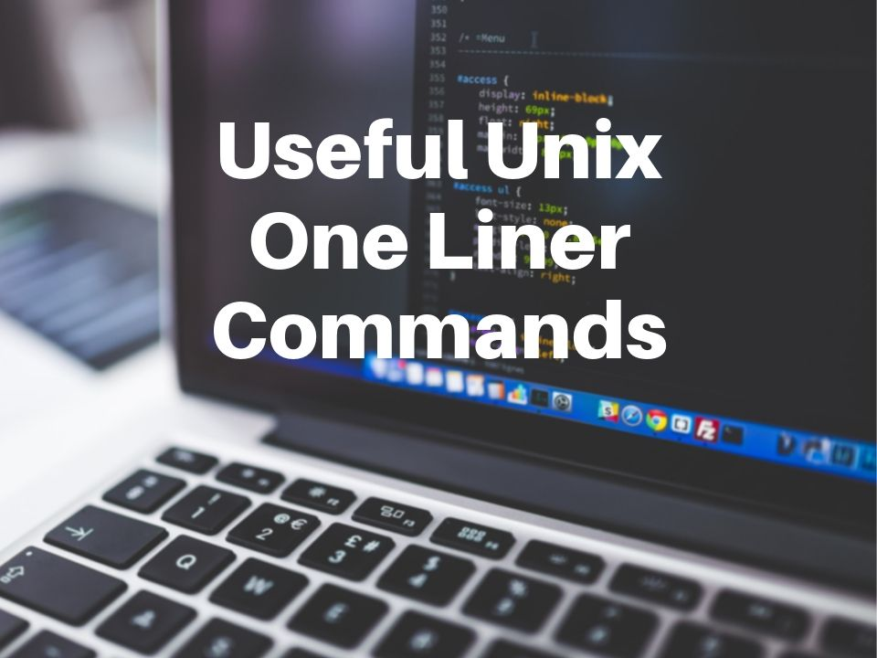 Unix one liner commands