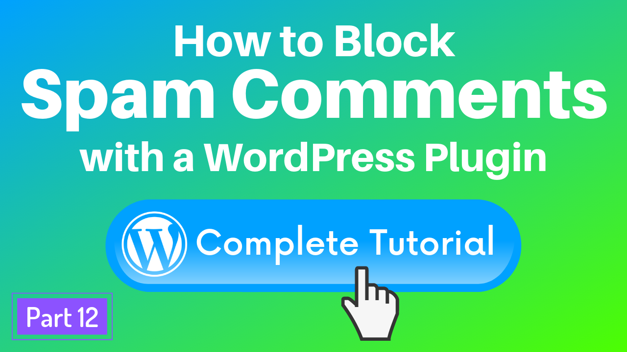 Block WordPress spam comments with the Anti-spam plugin