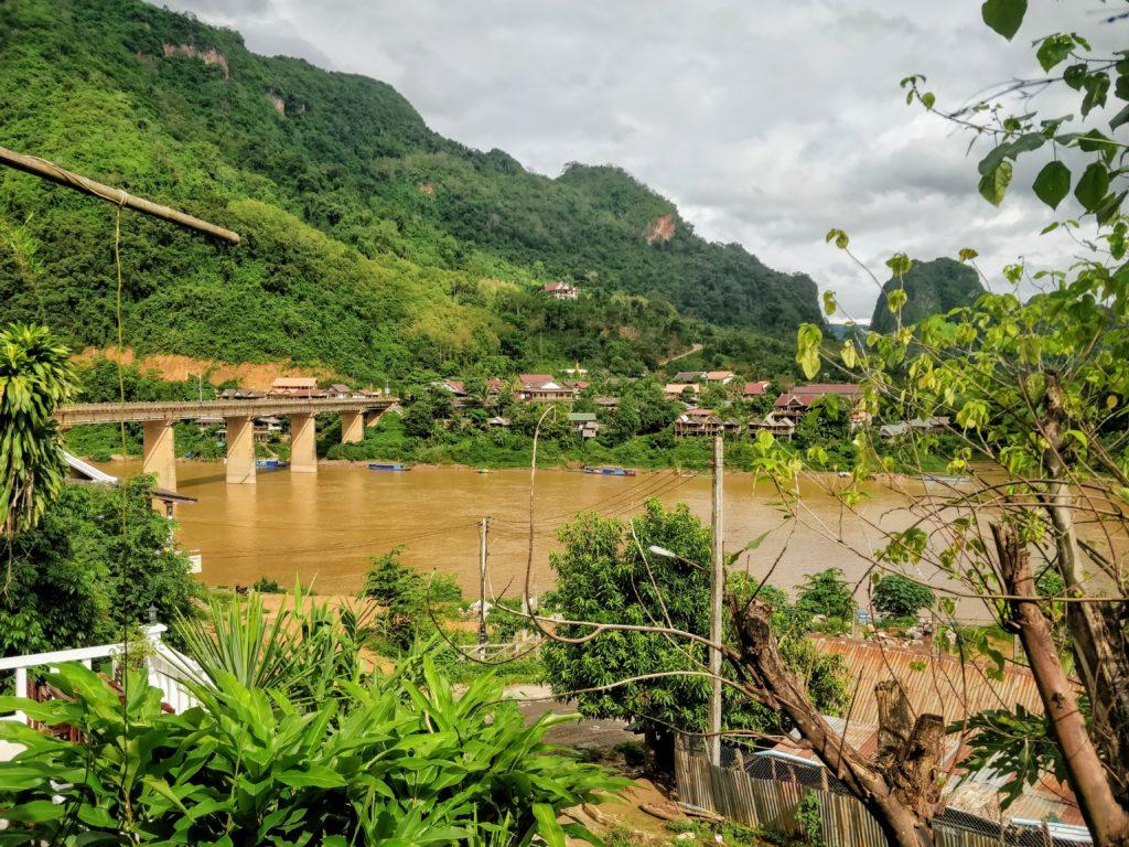 Nong Khiaw Bridge over the Nam Ou River in Laos
