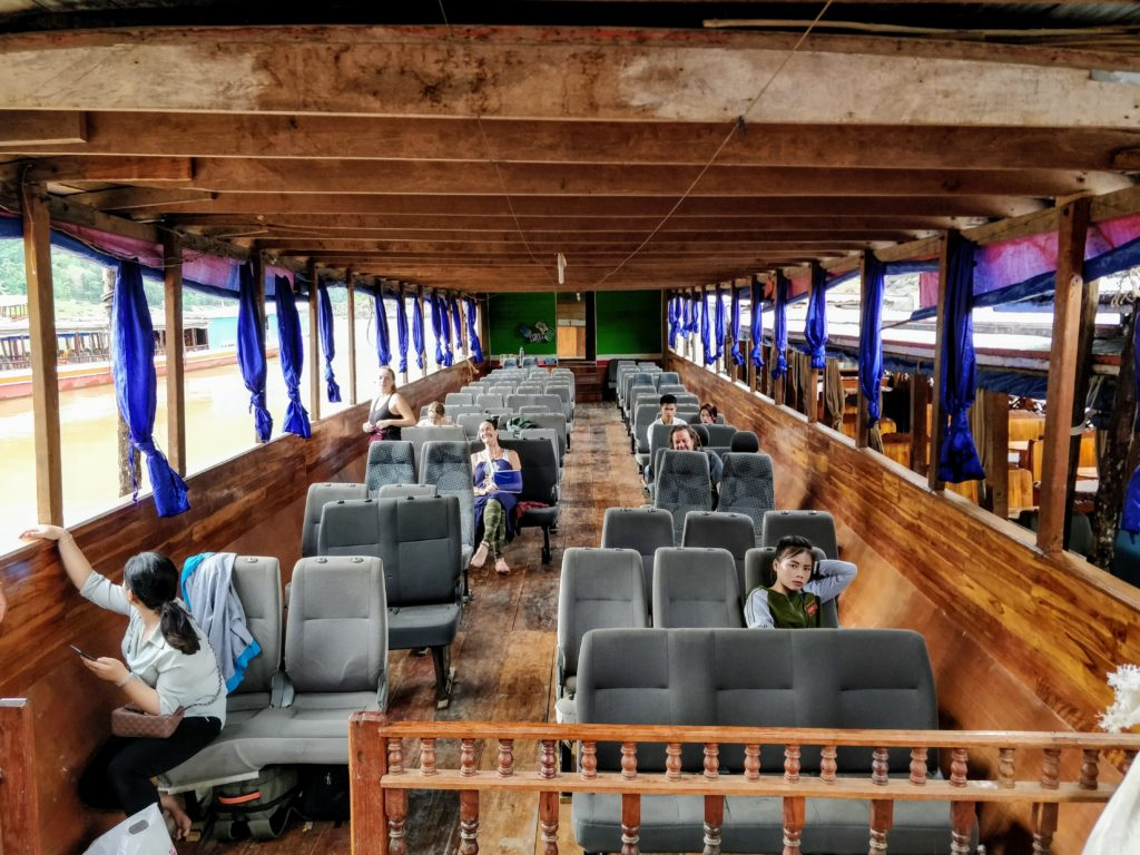 Slow boat from Laos to Thailand border